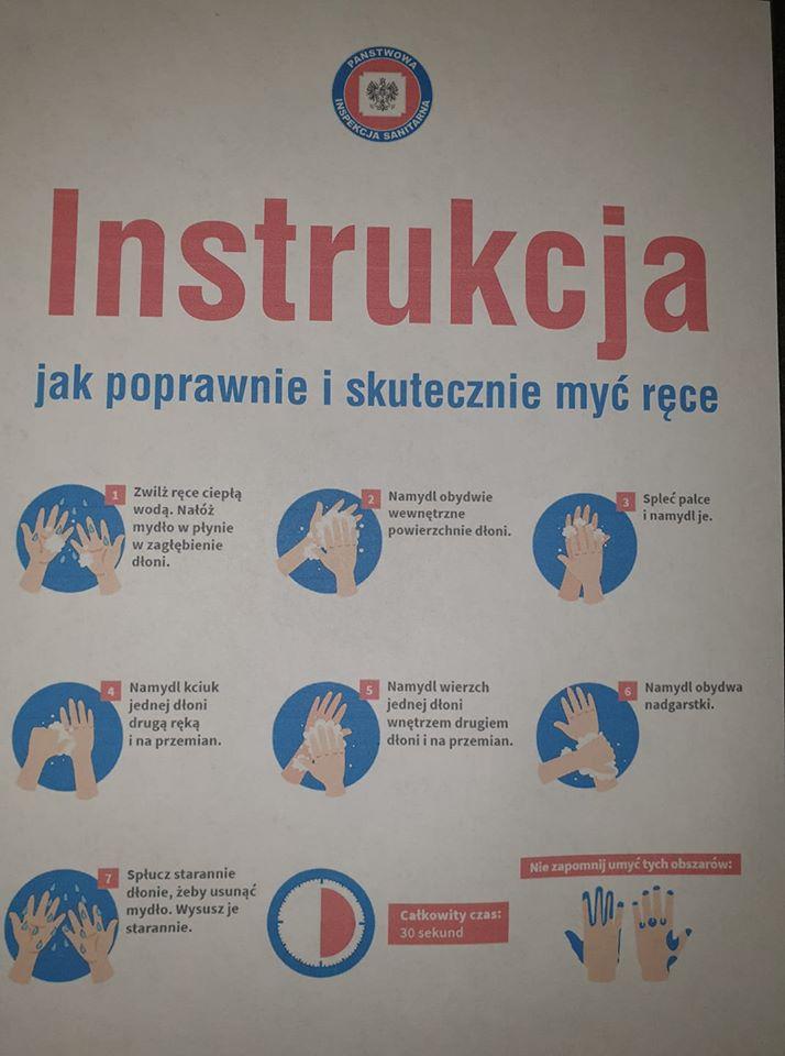 Instrukcja jak poprawnie i skutecznie myć ręce!